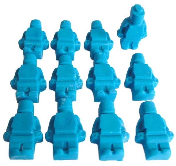 edible Lego men cupcake toppers and cake decorations