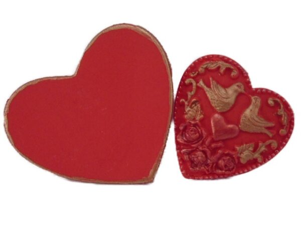 2 red hearts cake topper decorations