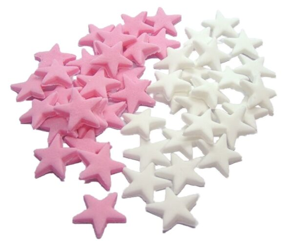 colour mixed edible stars cupcake toppers & cake decorations