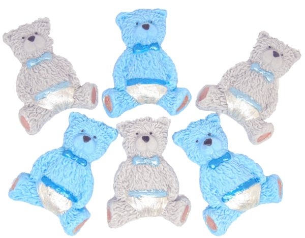 Mixed edible teddies cupcake toppers & cake decorations