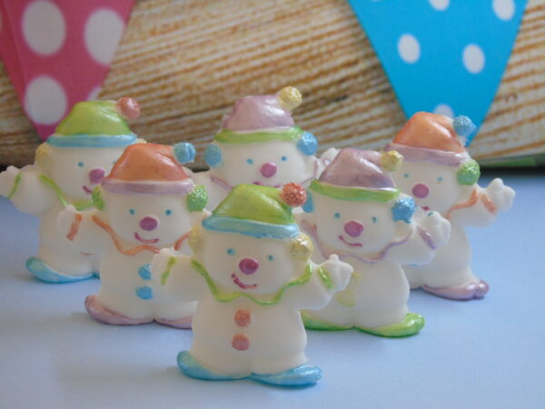 clown hand painted edible cupcake toppers & cake decorations