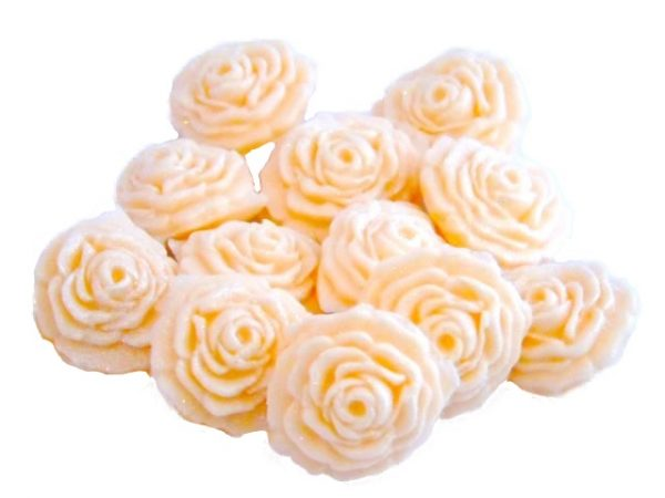 ivory roses edible flower cupcake toppers