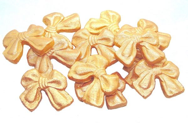 small gold bows