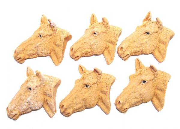 Brown horses heads cupcake cake topper decorations