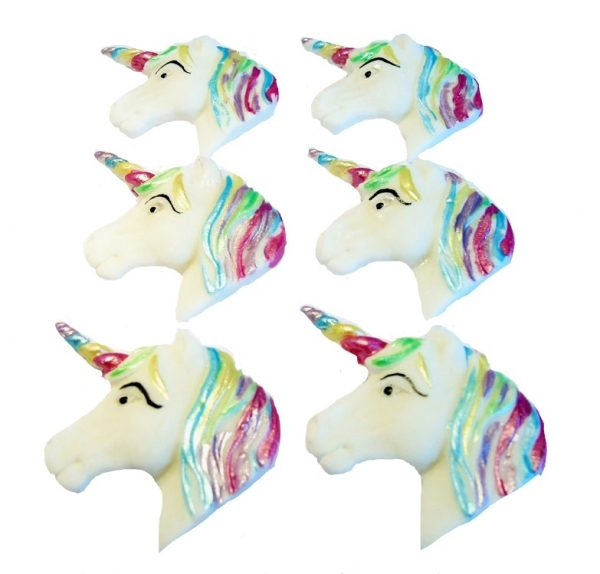 horse unicorn faces cupcake toppers and cake decorations