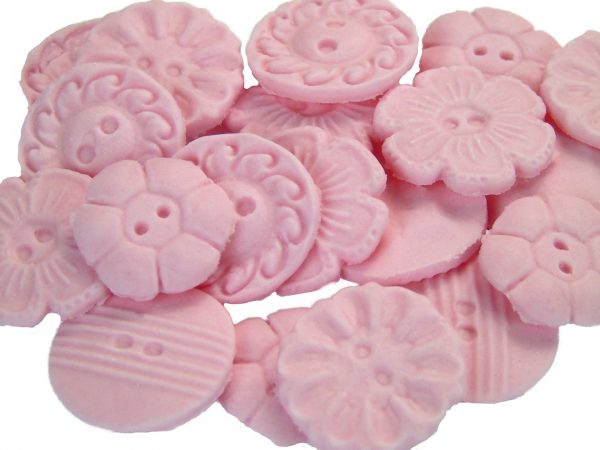 pink Mixed buttons