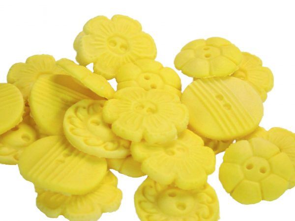 yellow Mixed buttons