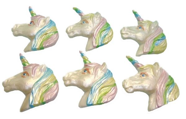 pastel horse unicorn faces cupcake toppers and cake decorations