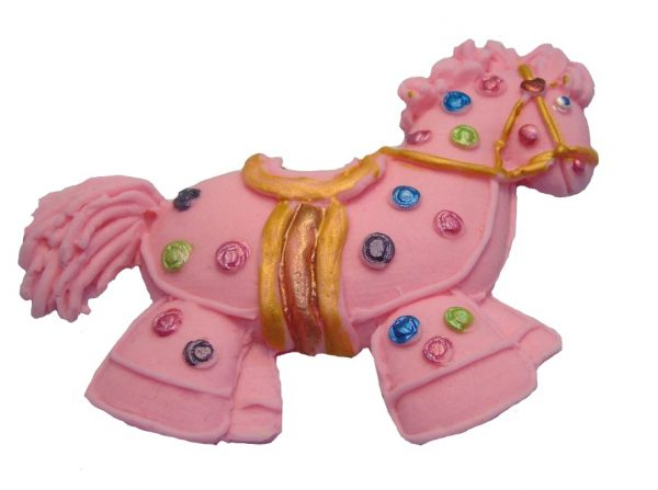 Pink Hobby horse cake topper decorations