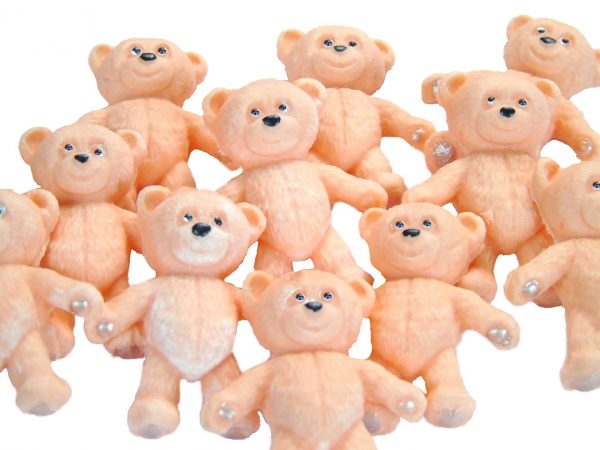 Peach teddies