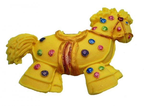Yellow Hobby horse cake topper decorations