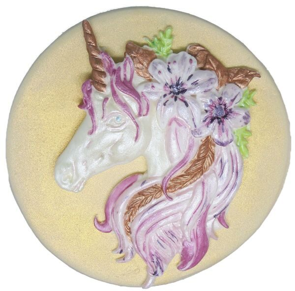Large 2 piece Unicorn cake topper decorations