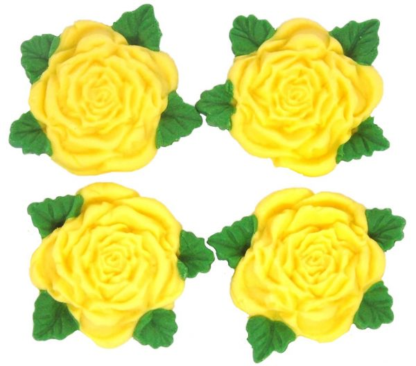 Yellow RS Roses Cake decorations
