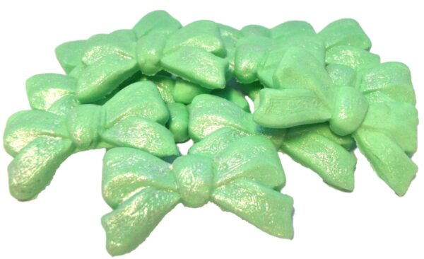 Large Edible glittered bows cupcake toppers & cake decorations