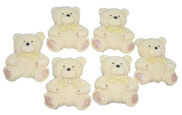 Teddy cupcake toppers and cake decorations