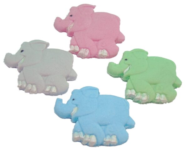 edible mixed baby shower elephants cupcake toppers