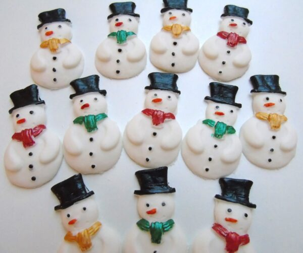 edible christmas snowmen