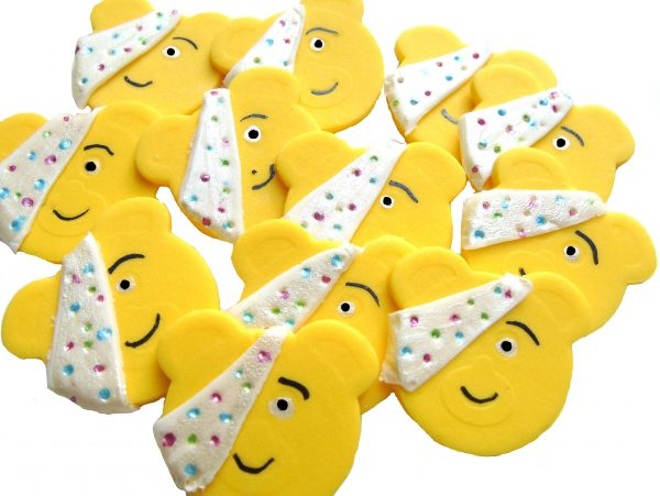 Pudsey faces cupcake decorations