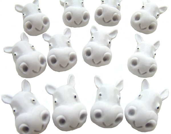 Hippo faces faces cupcake toppers