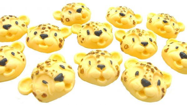 Leopard face faces cupcake toppers