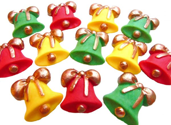 Christmas bells cupcake toppers