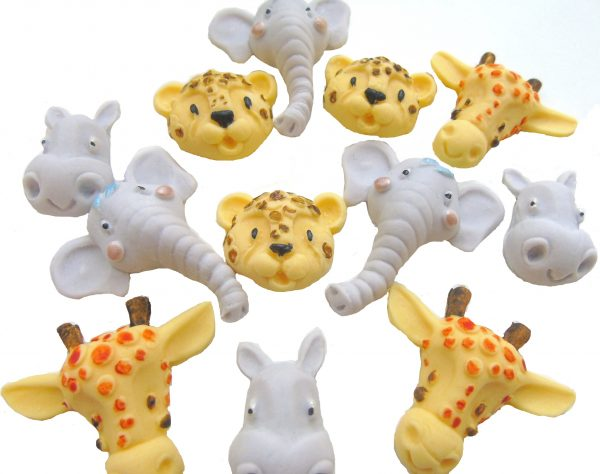 Wild animals cupcake cake toppers
