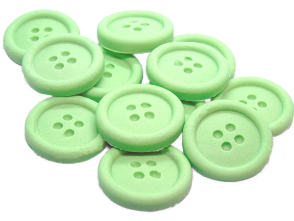 12 green edible buttons