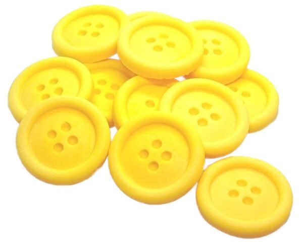 12 yellow edible buttons