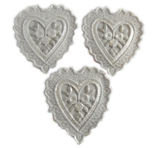 Edible hearts for cupcake and cake toppers
