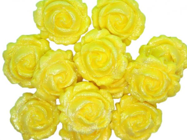 new small roses yellow