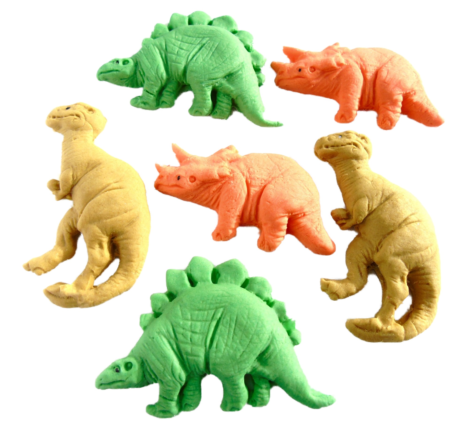 Outstanding 6 Mixed Novelty Edible Dinosaurs Birthday Cake Decorations Personalised Birthday Cards Paralily Jamesorg