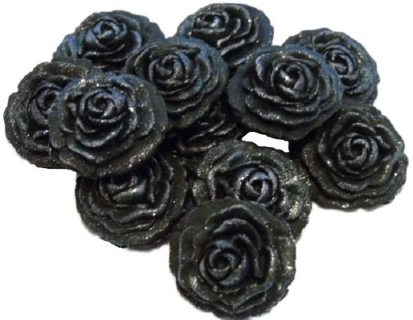 Black roses edible cupcake cake decorations
