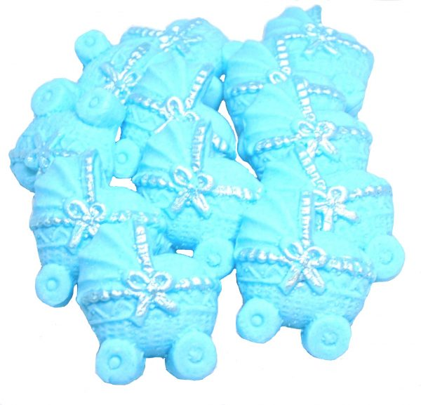 Blue baby shower cupcake toppers