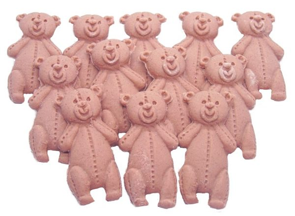 brown LT teddys baby shower cupcake toppers