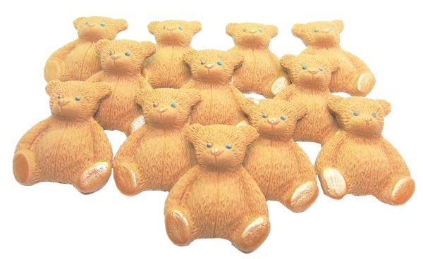 Brown new edible teddys cupcake decorations