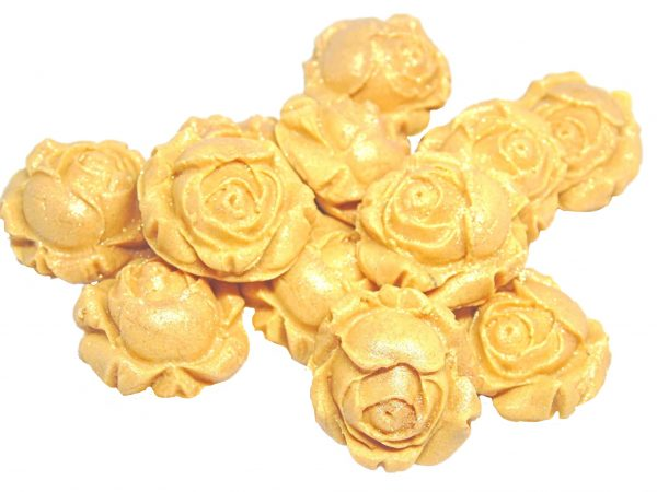 Gold rose bud edible flowers