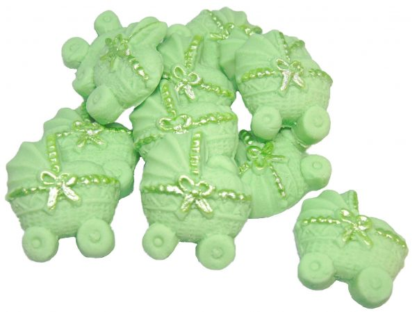 Green baby shower cupcake toppers