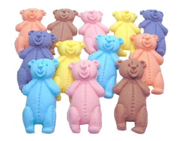 Mixed LT teddys baby shower cupcake toppers