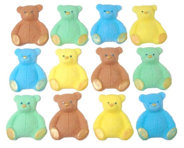 Brown mix new edible teddys cupcake decorations