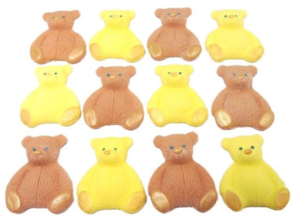 Brown Yellow new edible teddys cupcake decorations