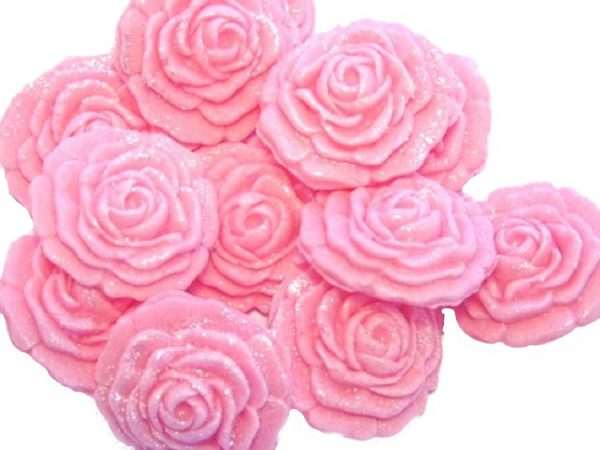 pink roses edible cupcake cake decorations