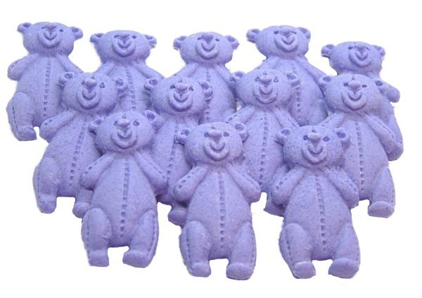 Purple LT teddys baby shower cupcake toppers