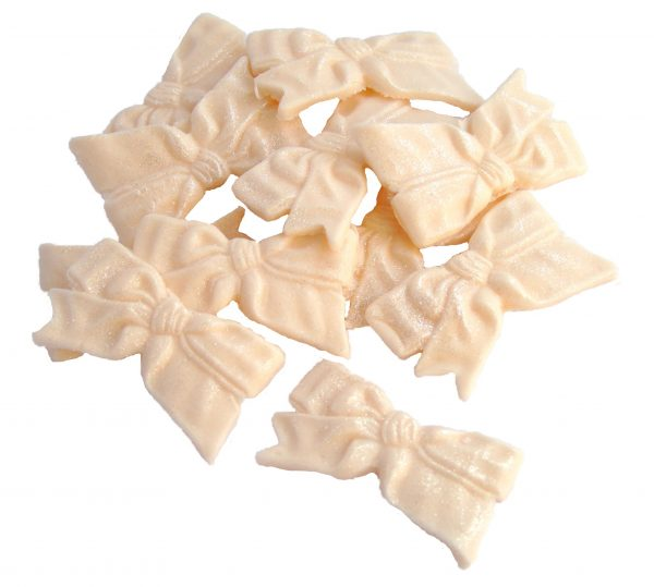 ivory Edible fine bows cake cupcake toppers