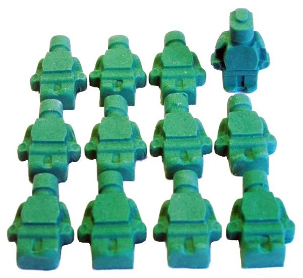 green brick men lego edible topper decorations