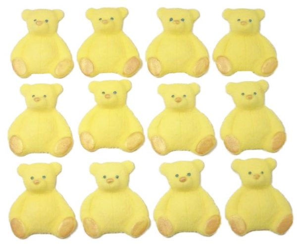 yellow new edible teddys cupcake decorations
