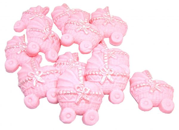 Pink baby shower cupcake toppers