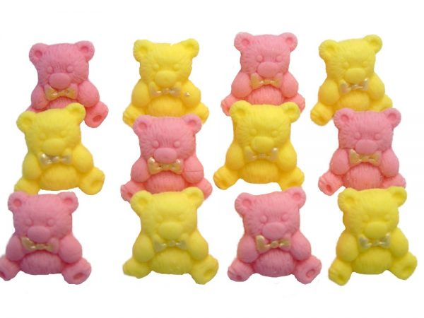 pink yellow teddys