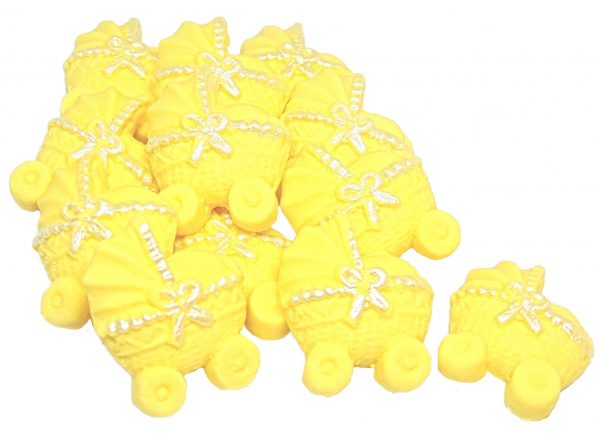 Yellow baby shower cupcake toppers