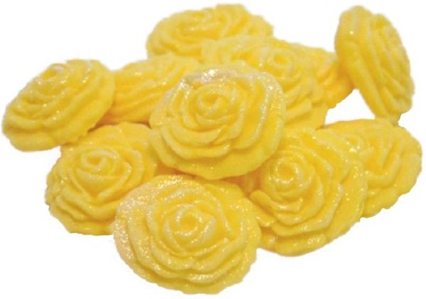 yellow roses edible cupcake cake decorations