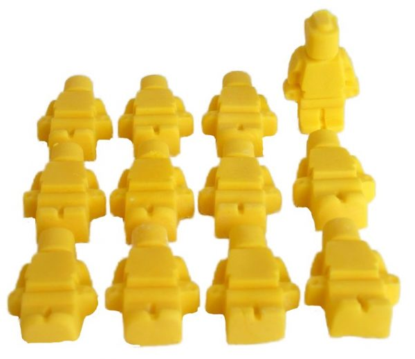 yello brick men lego edible topper decorations